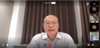 Thứ trưởng Bộ TN&MT Lê Công Thành phát biểu chỉ đạo tại cuộc họp trực tuyến