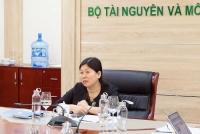 Thứ trưởng Bộ TN&MT Nguyễn Thị Phương Hoa tại điểm cầu Bộ TN&MT.