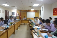 Cục trưởng Cục Quản lý tài nguyên nước Hoàng Văn Bẩy phát biểu tại cuộc họp