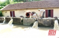 Trạm bơm B4-10, xã Đồng Tiến (Triệu Sơn) vận hành bảo đảm nguồn nước phục vụ sản xuất.