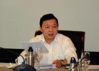Bộ trưởng Trần Hồng Hà phát biểu chỉ đạo tại cuộc họp chiều 18/4/2019