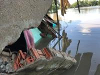 Một vụ sạt lở nghiêm trọng tại huyện Nhà Bè (TP Hồ Chí Minh).