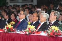 Thủ tướng Nguyễn Xuân Phúc và các đại biểu tại điểm cầu TP Hồ Chí Minh - Ảnh Thành Vũ/TTXVN