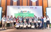 """Lễ trao giải """"Khởi nghiệp sáng tạo ứng phó với biến đổi khí hậu Việt Nam"""" lần thứ hai."""