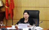 Thứ trưởng Nguyễn Thị Phương Hoa, Chủ tịch Hội đồng sáng kiến của Bộ TN&MT phát biểu chỉ đạo tại cuộc họp