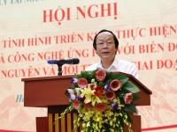 Thứ trưởng Bộ TN&MT Võ Tuấn Nhân phát biểu tại Hội nghị