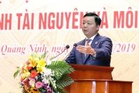 Bộ trưởng Trần Hồng Hà phát biểu chỉ đạo trong Hội nghị tập huấn nghiệp vụ và triển khai công tác thanh tra, kiểm tra ngành TN&MT năm 2019