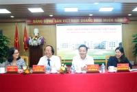 Bộ trưởng Trần Hồng Hà cùng các Thứ trưởng: Nguyễn Thị Phương Hoa; Võ Tuấn Nhân với các lãnh đạo chủ chốt Bộ Tài nguyên và Môi trường đến thăm và làm việc với Học viện Nông nghiệp Việt Nam