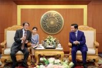 Bộ trưởng Trần Hồng Hà tiếp và làm việc với ông Umeda Kunio, Đại sứ Đặc mệnh toàn quyền Nhật Bản tại Việt Nam