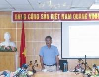 Cục trưởng Cục Quản lý tài nguyên nước Hoàng Văn Bẩy chủ trì cuộc họp
