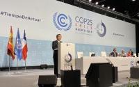 Bộ trưởng Bộ Tài nguyên và Môi trường Trần Hồng Hà, Trưởng đoàn cấp cao Việt Nam phát biểu tại Phiên họp cấp cao của Hội nghị Hội nghị lần thứ 25 các bên tham gia Công ước của Liên Hợp Quốc về biến đổi khí hậu (COP25).