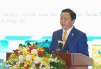 Bộ trưởng Bộ TN&MT Trần Hồng Hà phát biểu tại hội nghị, Ảnh: VGP/Quang Hiếu