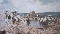 Lính công binh hải quân xây đảo Trường Sa lớn năm 1988. ảnh tư liệu