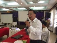 Ông Nguyễn Hồng Toàn, chuyên gia Ủy ban Sông Mê Kông Việt Nam, phát biểu tại tọa đàm.