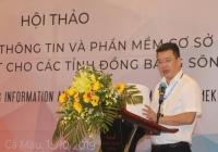 Phó Cục trưởng Cục Quản lý tài nguyên nước Châu Trần Vĩnh phát biểu khai mạc Hội thảo