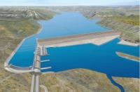 Phối cảnh dự án Đập thủy điện Site C. (Nguồn: vancouversun.com)