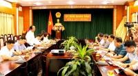Thứ trưởng Bộ Tài nguyên và Môi trường Võ Tuấn Nhân làm việc với UBND tỉnh Hải Dương.