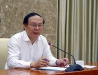 Thứ trưởng Lê Công Thành, Trưởng Ban Chỉ huy Phòng chống thiên tai và Tìm kiếm cứu nạn Bộ Tài nguyên và Môi trường chủ trì buổi làm việc với các đơn vị về công tác phòng chống thiên tai năm 2019