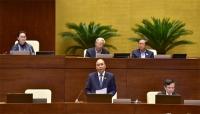 Thủ tướng Chính phủ trả lời chất vấn các đại biểu Quốc hội.