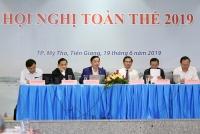 Bộ trưởng Bộ Tài nguyên và Môi trường (TN&MT) Trần Hồng Hà, Chủ tịch Ủy ban sông Mê Công Việt Nam chủ trì Hội nghị