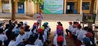 Một buổi tuyên truyền về BĐKH cho học sinh huyện Bắc Bình.