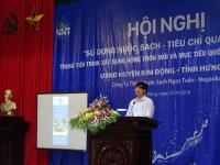 Ông Lê Trung Cần - Phó Giám đốc Sở NN&PTNT Hưng Yên phát biểu tại Hội nghị